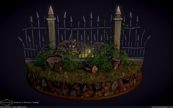 Fantasy Graveyard Mini Scene Updated Rear Overview